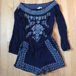 Dresses & Skirts - Navy off shoulder romper size S